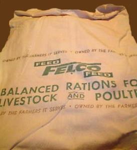 A FELCO feed sack.