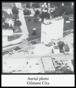 Gilmore City, Iowa, pre-1982. Click photo to enlarge. *