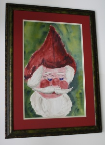 How I have Santa framed in my home.  Click photo to enlarge.