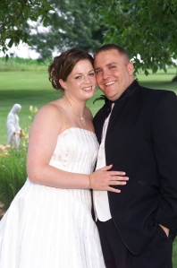 July 19, 2008.  Joe and Katie (Shimon) Moon on thier wedding day.  Click photo to enlarge.