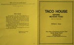Front and back of the Taco House menu.  (Click photo to enlarge.)