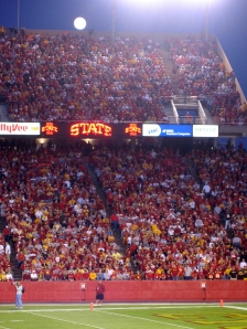 Iowa State, 34 --- North Dakota State, 17, September 3, 2009.  (Click photo to enlarge.)