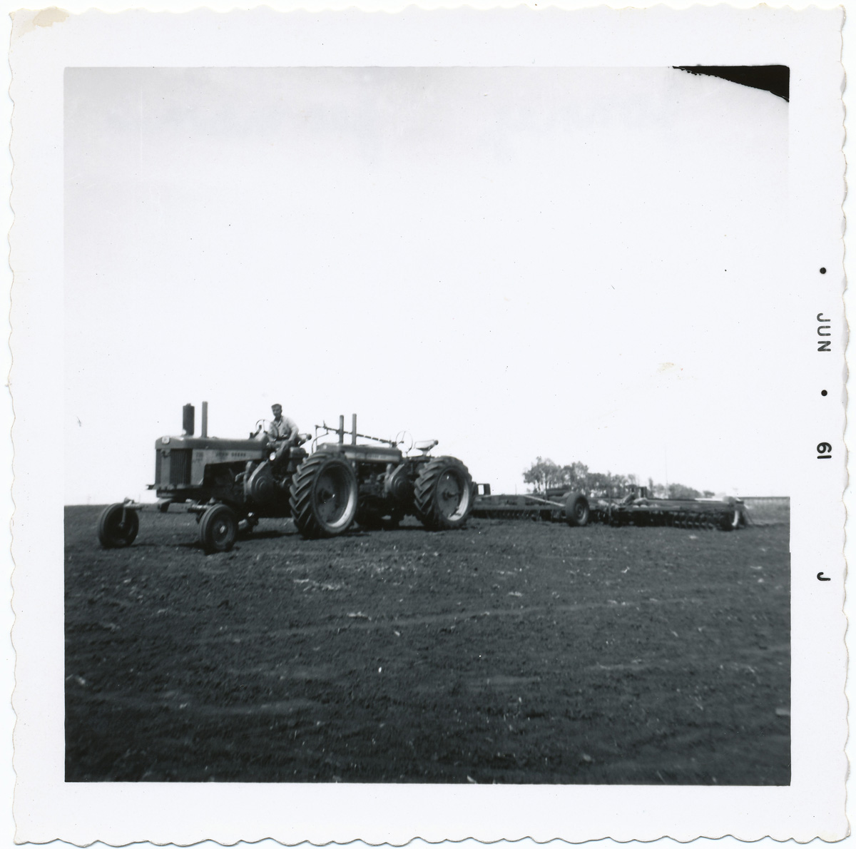 Tractors Hooked Together : Deane gunderson marion art and the farmer s