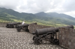The main hilltop compound is lined with 24 canons and provides many views, including of the island of Saba and Sandy Point Town.