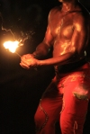 Fire-eater at Shiggidy Shack