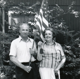 Mother and Daddy (Marion and Deane Gunderson) in 1976, the year of the bicentennial and photo project. (Click on photo to enlarge.)