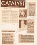 Catalyst article (see previous photo) and clippings including from Minneapolis, Kansas City and The Christian Science Monitor